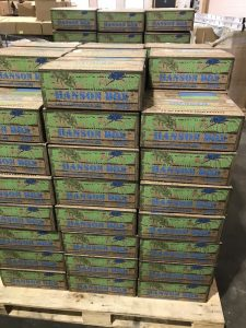 Stacks of 2019 Hanson Boxes