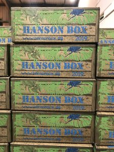 2019 Hanson Box Stacked ready to send